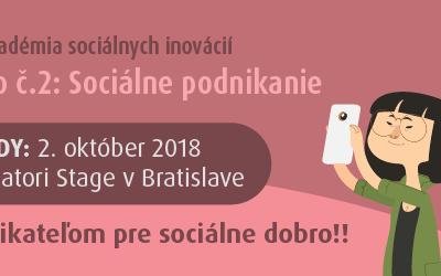 Workshop č. 2/7: Sociálne podnikanie