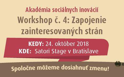 Workshop 4/7: Zapojenie zainteresovaných strán