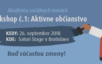 Workshop č. 1/7: Aktívne občianstvo