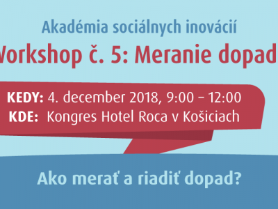 Košický workshop 5/7: Meranie dopadu