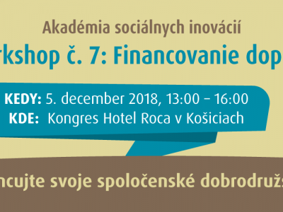 Košický workshop 7/7: Financovanie dopadu