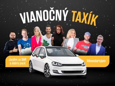 Známe osobnosti si sadnú za volant vianočného taxíka. Bratislavčania jazdou prispejú na dobrú vec